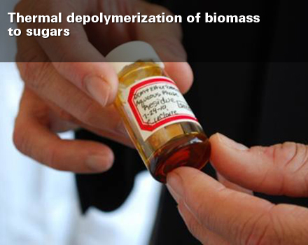 Brown_Thermal depolymerization of biomass to sugars SLIDE