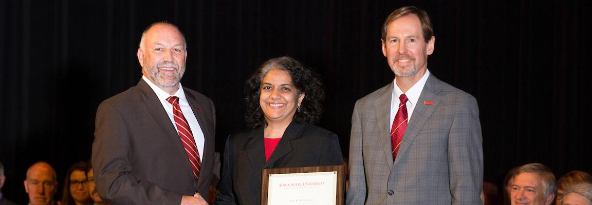 Mallapragada recognized as Anson Marston Distinguished Professor in university ceremony