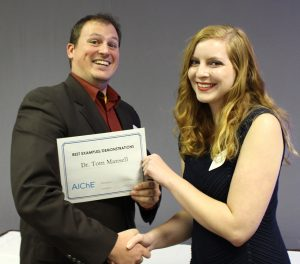 Prof. Mansell receives Best Examples/Demonstrations Award