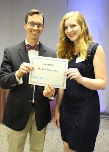 Prof. Schneider receives Best Dressed Award