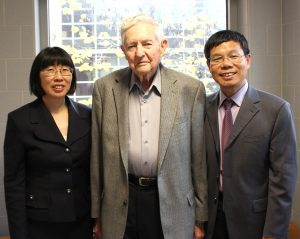 Wu with wife and Tom Wheelock