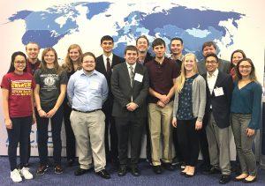 Students at meeting