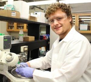 Logan Morton Univ. of Missouri in lab