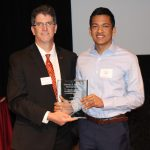 Akash Mitra presented Outstaniding Senior Award by Andy Hillier