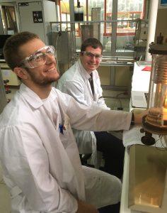 Mahoney and Lentner in Oviedo lab