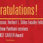 Matthew Panthani congratulations