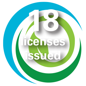 18 licenses issued