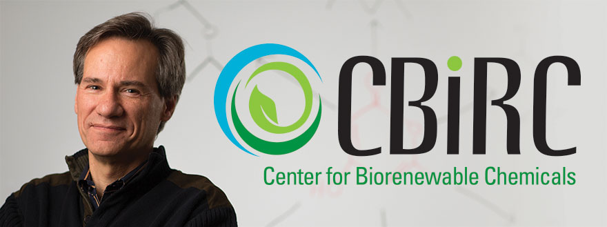 Brent Shanks pictured with CBiRC logo