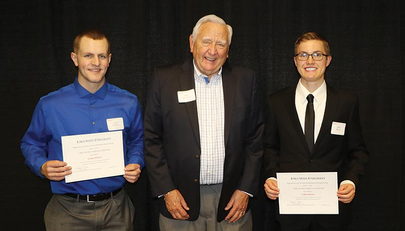 Mike Steffenson with scholarship recipients