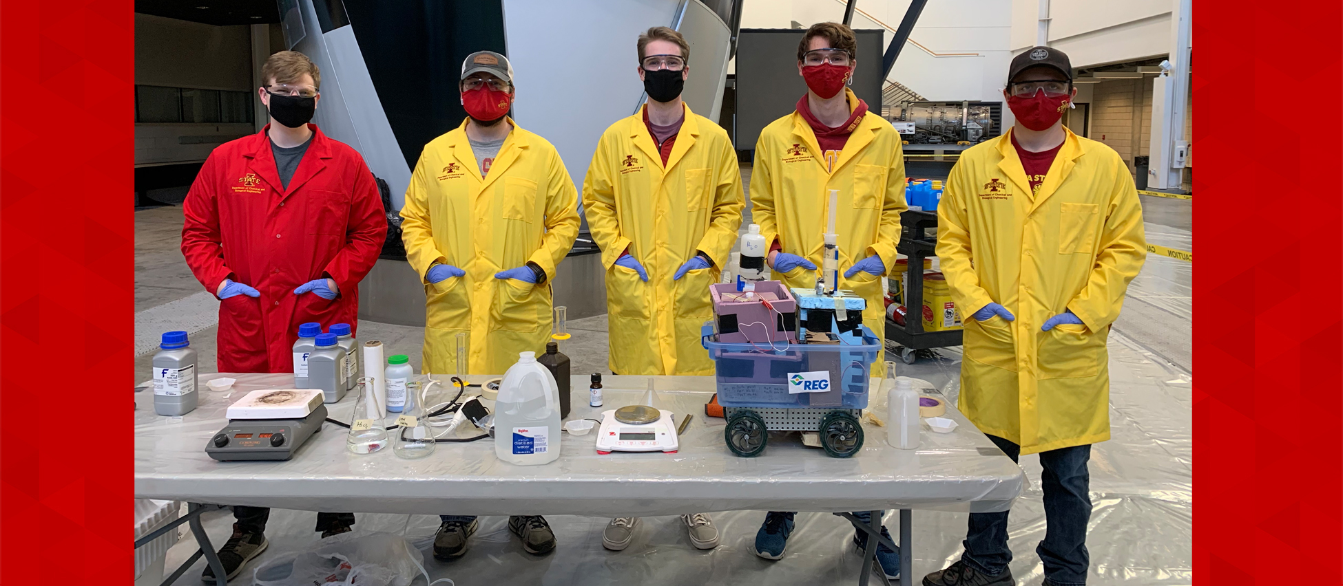 Students with Chem-E-Car
