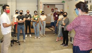 BioMap participants view a Sweeney Hall laboratory