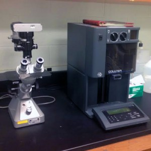 Inverted Microscope and Cell Counter